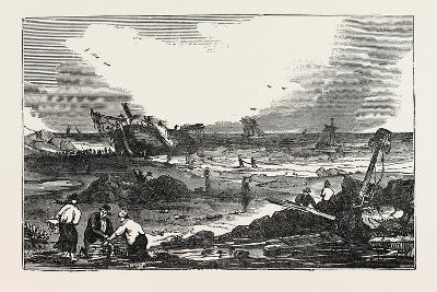 The Betsy Cains Ashore at Tynemouth, UK--Giclee Print