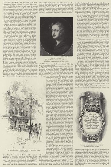 The Bi-Centenary of Henry Purcell-Joseph Holland Tringham-Giclee Print