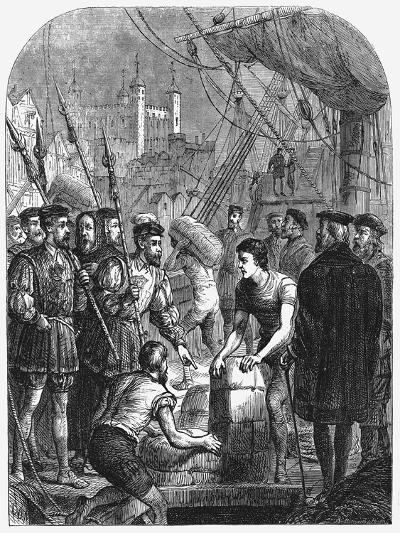 The Bible Being Smuggled into England, 1536--Giclee Print