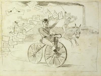 The Bicycle Messenger-Winslow Homer-Giclee Print