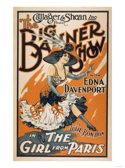 """The Big Banner Show """"The Girl from Paris"""" Poster-Lantern Press-Art Print"""