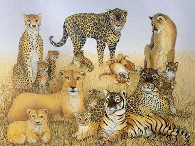 The Big Cats-Pat Scott-Giclee Print