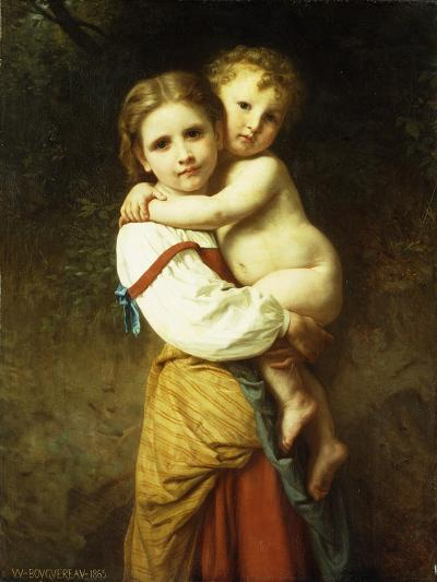 The Big Sister; La Grande Soeur-William Adolphe Bouguereau-Giclee Print