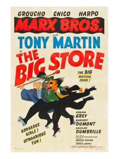 The Big Store, the Marx Brothers-From Left: Harpo Marx, Chico Marx, Groucho Marx, 1941--Photo