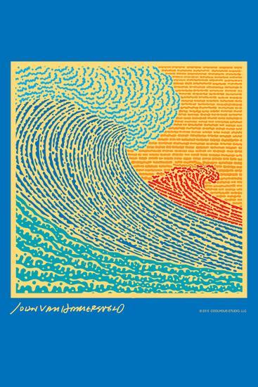 The Big Wave - John Van Hamersveld Poster Artwork-Lantern Press-Art Print