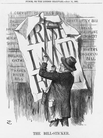 The Bill-Sticker, 1881-Joseph Swain-Giclee Print