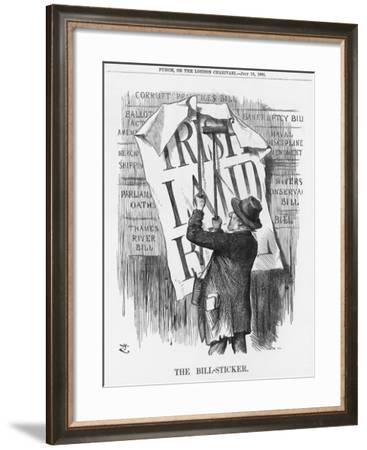 The Bill-Sticker, 1881-Joseph Swain-Framed Giclee Print