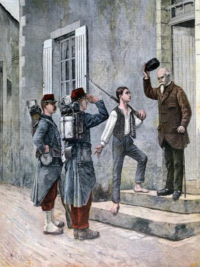 The Billet, after a Painting by Cres, 1892--Giclee Print