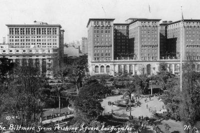 The Biltmore from Pershing Square, Los Angeles, California, USA, C1933--Giclee Print