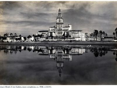 The Biltmore Hotel, Coral Gables, Near Completion, 1926--Photographic Print