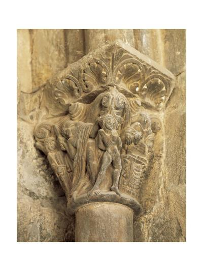 The Binding of Isaac, Capital, Cathedral of Jaca, 12th Century, Spain--Giclee Print