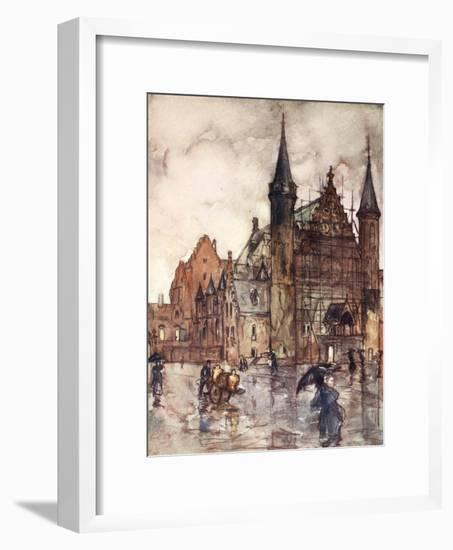 The Binnenhof, the Hague, 1904-Nico Jungman-Framed Giclee Print