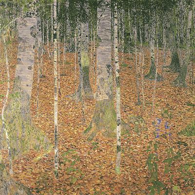 The Birch Wood-Gustav Klimt-Giclee Print