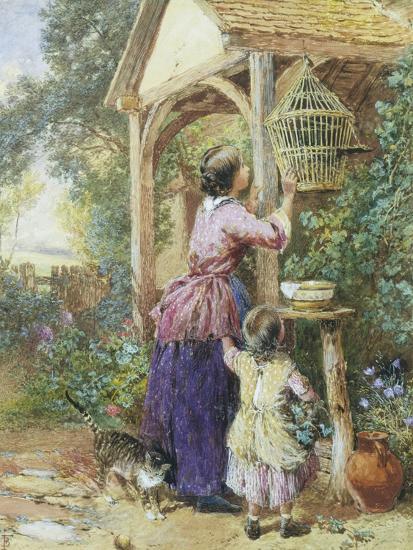 The Bird Cage-Myles Birket Foster-Giclee Print