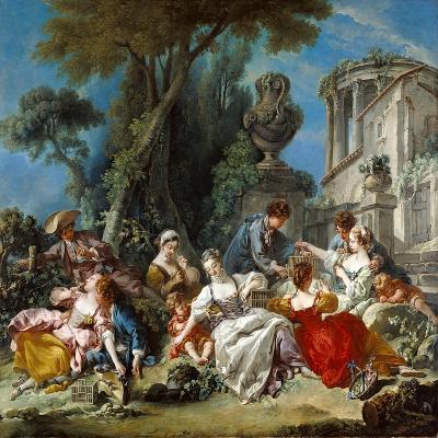 The Bird Catchers, 1748-Francois Boucher-Giclee Print