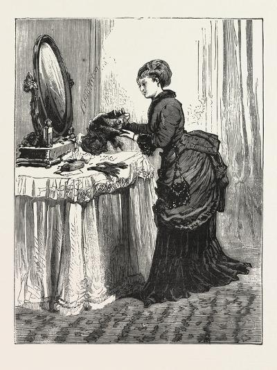 The Bird Wearer., Woman, Fashion, Hat, Mirror, Interior, Dressing Table, 1876, Uk--Giclee Print