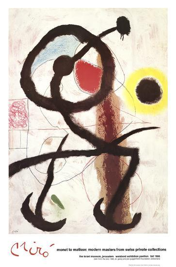 The Bird-Joan Miro-Art Print