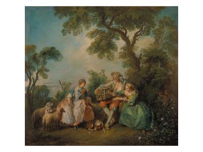 The Birdcage (Les Amours Du Bocage), about 1735-Nicolas Lancret-Giclee Print