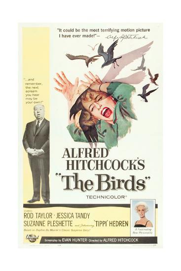 The Birds, Alfred Hitchcock, Jessica Tandy, Tippi Hedren, 1963--Art Print