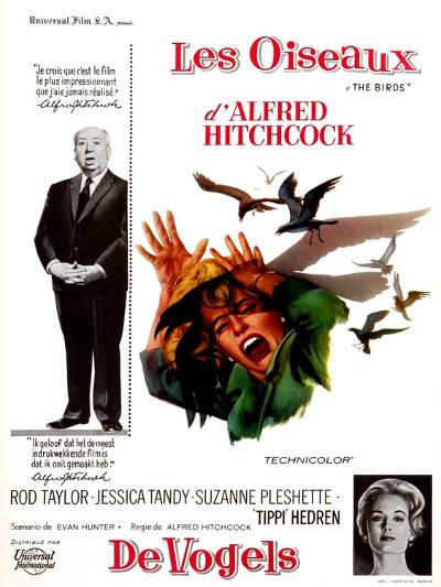 The Birds, Tippi Hedren, Alfred Hitchcock, 1963--Photo