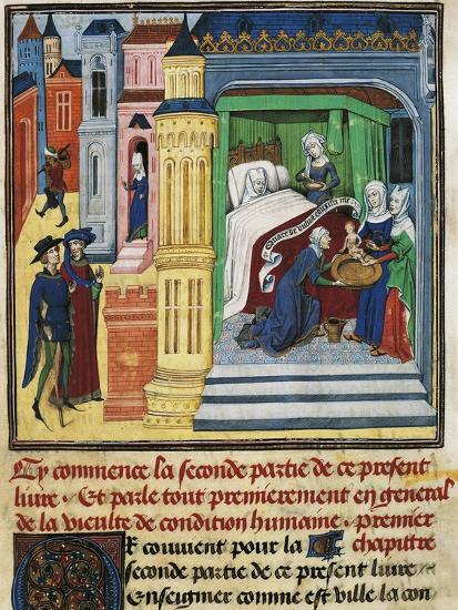 The Birth, Miniature from Jean De Gerson's Devotions, 1462, Manuscript--Giclee Print