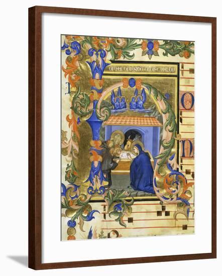The Birth of Christ- Simone da Siena-Framed Giclee Print