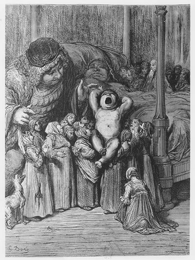 The Birth of Gargantua from 'Gargantua and Pantagruel', by François Rabelais-Gustave Dore-Giclee Print