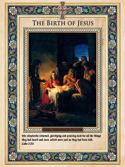 The Birth of Jesus-Carl Bloch-Giclee Print
