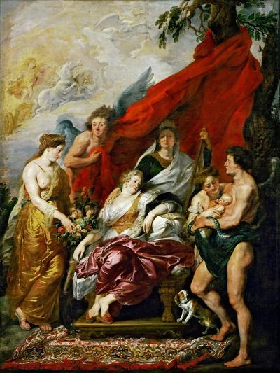 The Birth of the Dauphin at Fontainebleau (The Marie De' Medici Cycl)-Peter Paul Rubens-Giclee Print