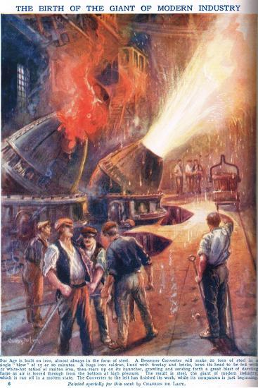 The Birth of the Giant of Modern Industry, Illustration from 'Newnes Pictor-Charles John De Lacy-Giclee Print
