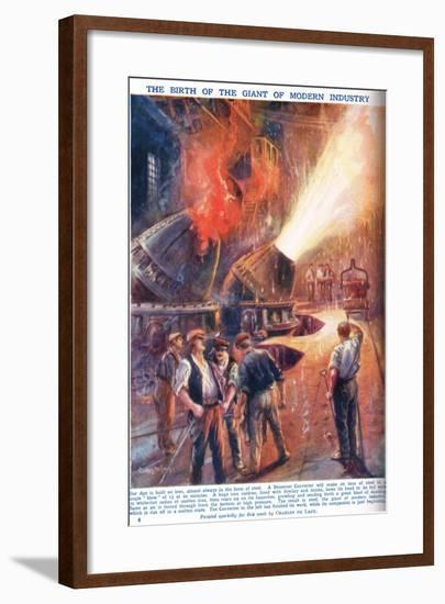 The Birth of the Giant of Modern Industry, Illustration from 'Newnes Pictor-Charles John De Lacy-Framed Giclee Print