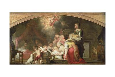 The Birth of the Virgin, 1661-Bartolome Esteban Murillo-Giclee Print