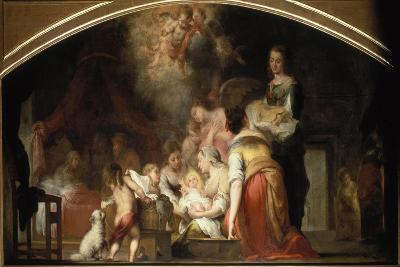 The Birth of the Virgin, 1661-Bartolom? Est?ban Murillo-Giclee Print