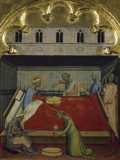 The Birth of the Virgin, Detail from the Predella of the Polyptych of San Pancrazio-Bernardo Daddi-Giclee Print