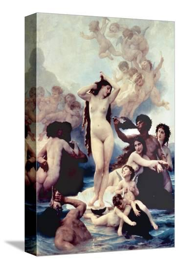 The Birth of Venus, 1879-William Adolphe Bouguereau-Stretched Canvas Print
