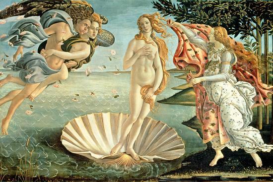 The Birth of Venus, c.1485-Sandro Botticelli-Premium Giclee Print