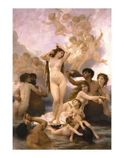 The Birth of Venus-William Adolphe Bouguereau-Art Print