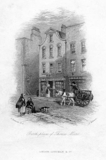 The Birth Place of Thomas Moore, Dublin, C19th Century-James Tibbitts Willmore-Giclee Print