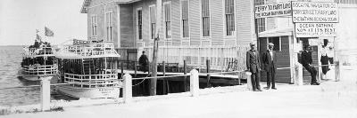 The Biscayne Navigation Company''S Tour Boats Docked at the Foot of Flagler Street, C.1901--Photographic Print