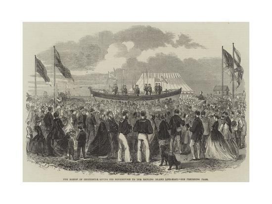 The Bishop of Chichester Giving His Benediction to the Hayling Island Life-Boat--Giclee Print