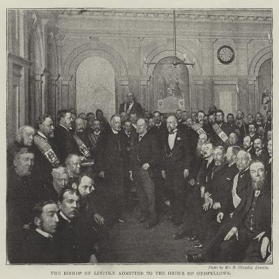The Bishop of Lincoln Admitted to the Order of Oddfellows--Giclee Print