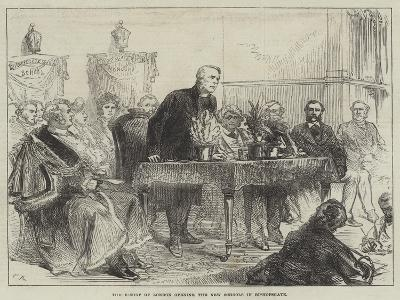 The Bishop of London Opening the New Schools in Bishopsgate-Charles Robinson-Giclee Print