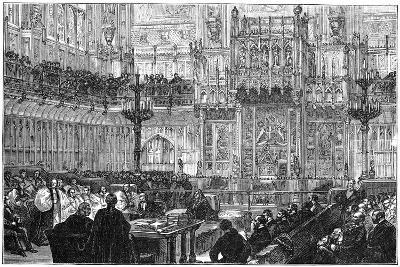 The Bishop of Peterborough Addressing the House of Lords, Mid-Late 19th Century--Giclee Print