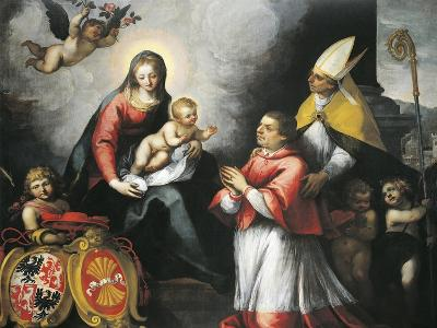 The Bishop of Trent Saint Bernardo Clesio Presented by Saint Vigil to the Virgin--Giclee Print