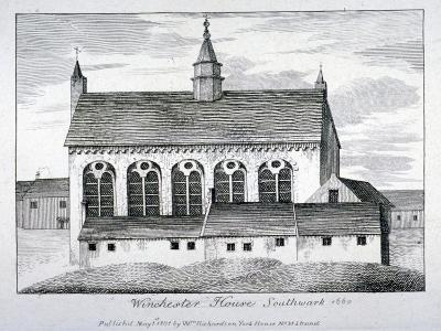 The Bishop of Winchester's Palace, Winchester House, Southwark, London, 1801-William Richardson-Giclee Print