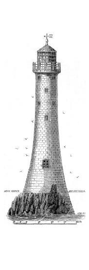 The Bishop Rock Lighthouse, Scilly Isles, 1858--Giclee Print
