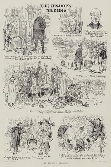 The Bishop's Dilemma-Charles Edmund Brock-Giclee Print
