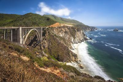 The Bixby Bridge Along Highway 1 on California's Coastline-Andrew Shoemaker-Photographic Print