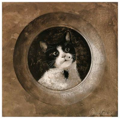 The Black and White Cat-Pascal Cessou-Art Print
