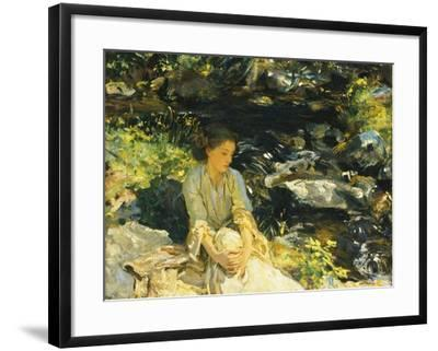 The Black Brook-John Singer Sargent-Framed Giclee Print